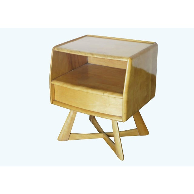 Heywood Wakefield M778 Sculptura Nightstand - Pair - Image 4 of 7