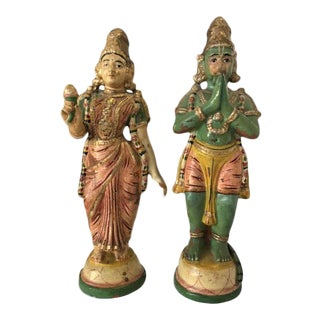 Terra Cotta Indian Figurines - A Pair