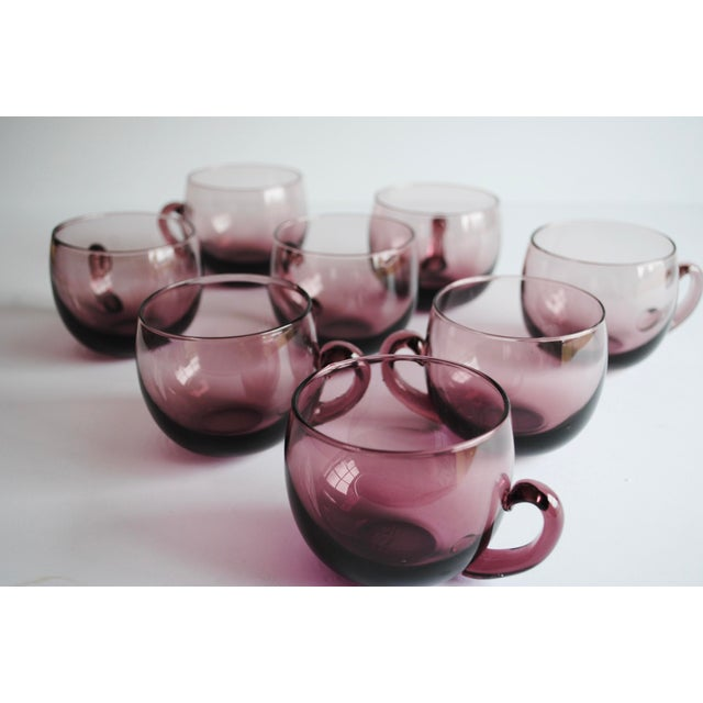 Mid-Century Punch Bowl & Glasses - Image 5 of 5
