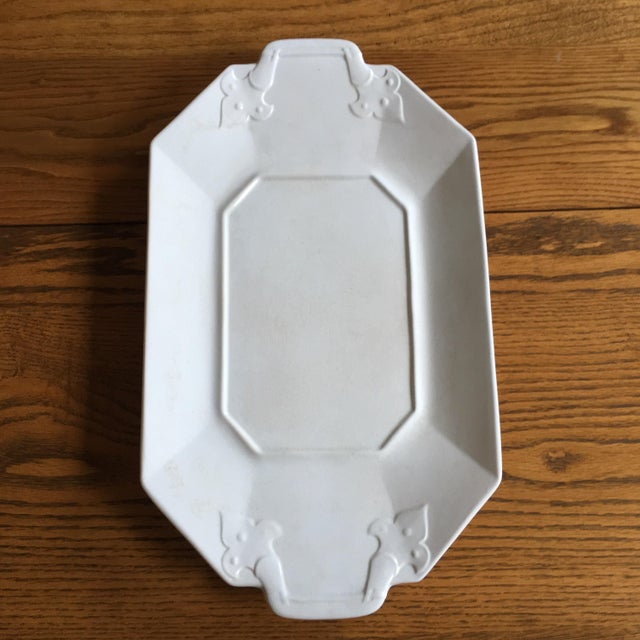 Crackled White Serving Tray - Image 3 of 5