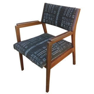 Alma Desk Co. Mid-Century Armchair in Mud Cloth