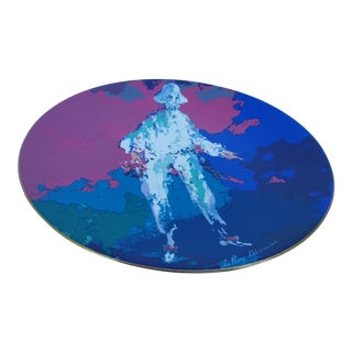 1975 Leroy Neiman -PIERROT- Colorful Decorative Ceramic Plate .