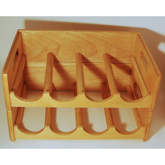 Image of Maple Nesting Wine Carriers - A Pair
