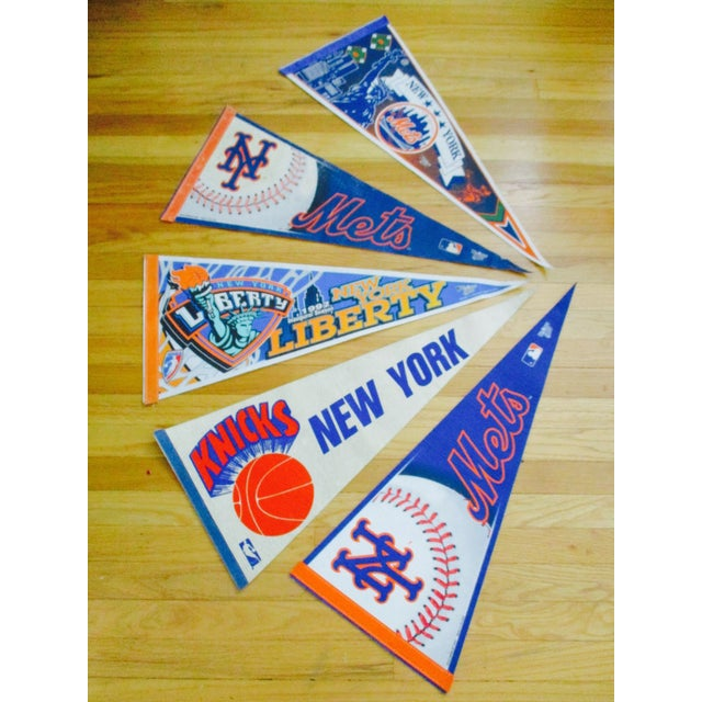New York City Mets Knicks Pennants - Set of 5 - Image 10 of 10