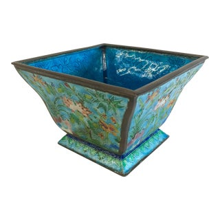 Chinese Vintage Enameled Cache Pot