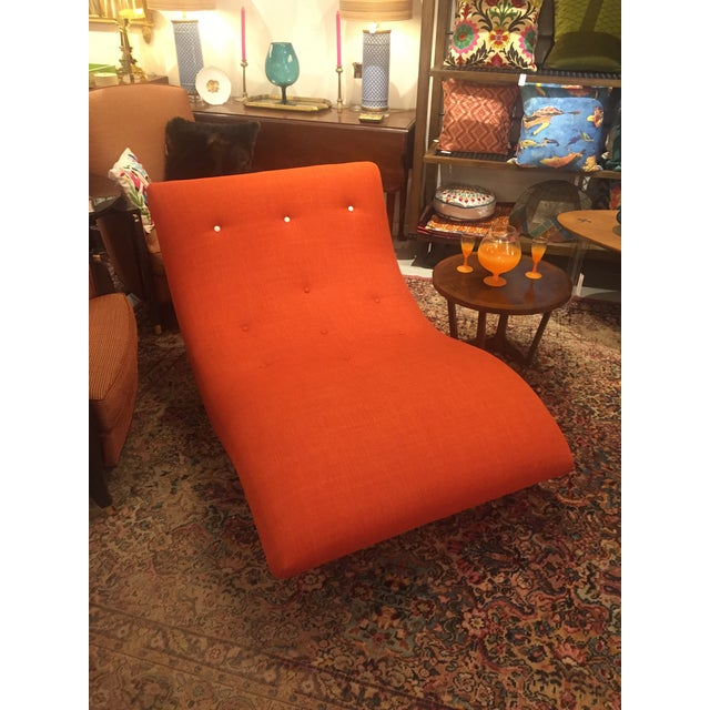 Adrian Pearsall Style Orange Wave Lounge Chaise - Image 9 of 11