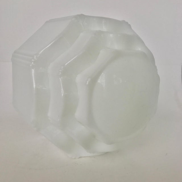 Art Deco Milk Glass Globe Replacement - Image 6 of 6