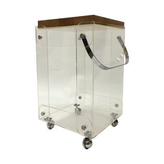 Plexiglass Bar Cart Workstation