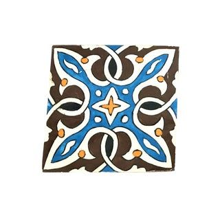 Hand Painted Large Moroccan Decorative Tile
