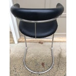 Image of Thonet Chrome & Vinyl Bar Stool
