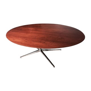 Rosewood Florence Knoll Oval Table Desk