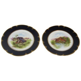 Hand-Painted Limoges Bird Plates - A Pair
