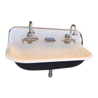Farmhouse Wash Sink with Cast Iron Wall Mount