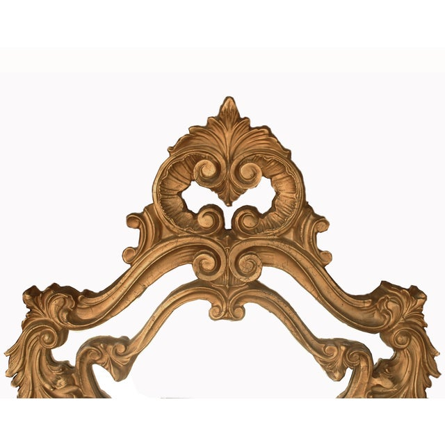 Ornate Gold French Mirror, Hollywood Regency Style - Image 2 of 3