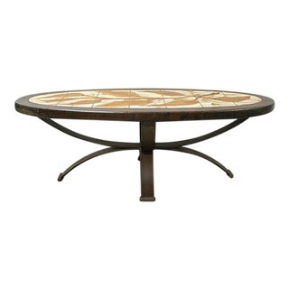 Mid-Century French Tile Coffee Table