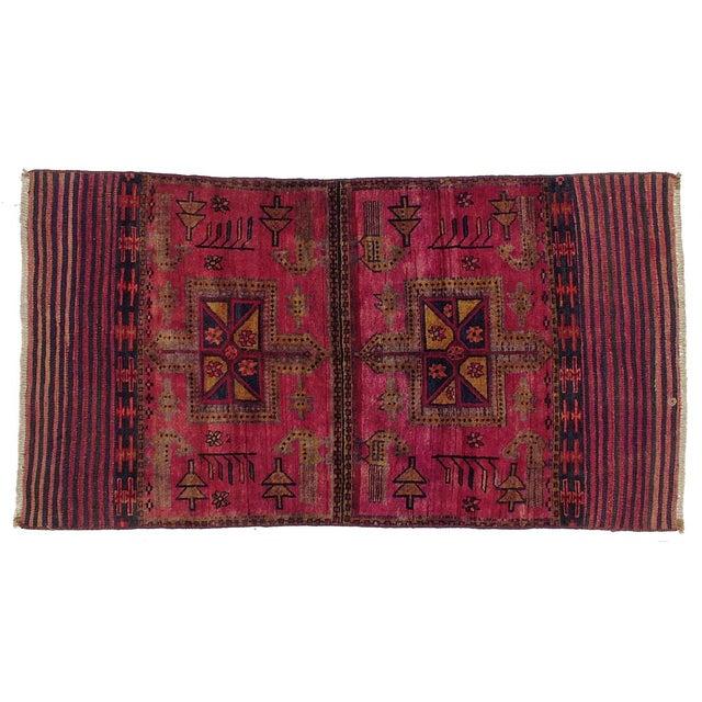 "Vintage Persian Tacheh Rug - 4' X 7'7"" - Image 1 of 3"
