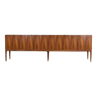 Walnut and Marble Credenza by Jos De Mey
