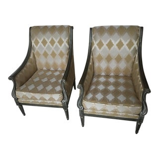 Drexel Heritage Silk Chairs - A Pair