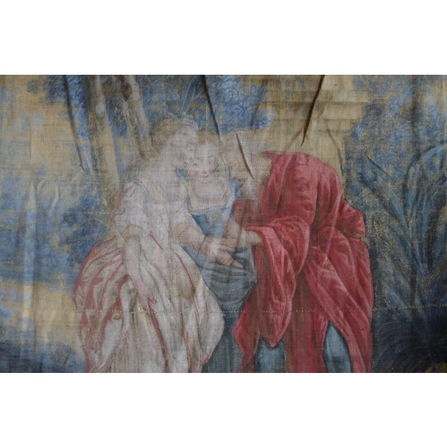 Large Rococo Wall Hanging Tapestry 19th Century - Image 9 of 10