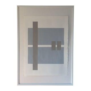 Handmade Geometric Silkscreen Artwork on Paper