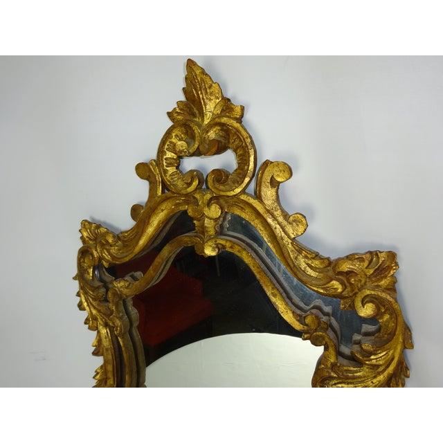 Italian Gilt Carved Louis XV Mirror - Image 6 of 9