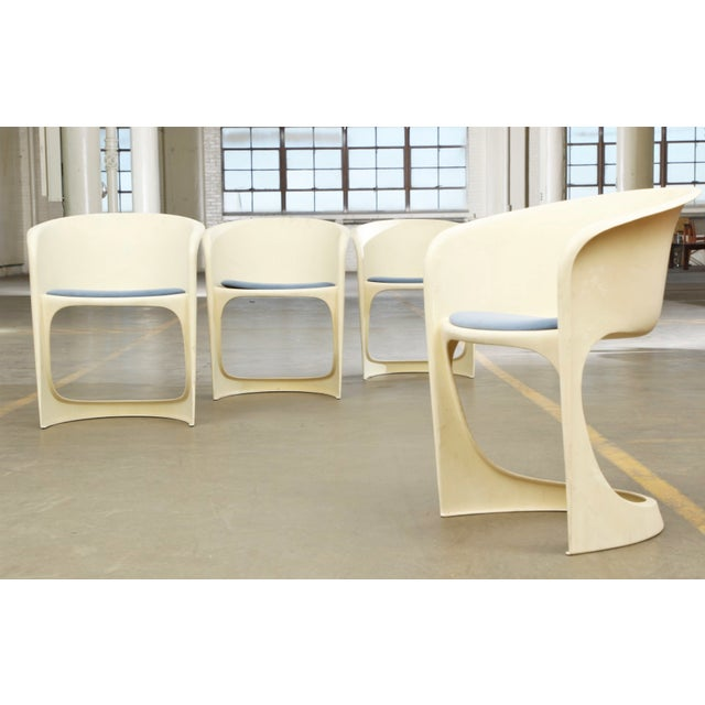 'Cado' Steen Ostergaard 1966 Mid Century Danish Modern Molded Plastic Stacking Dining Chairs - Set of 4 - Image 2 of 7