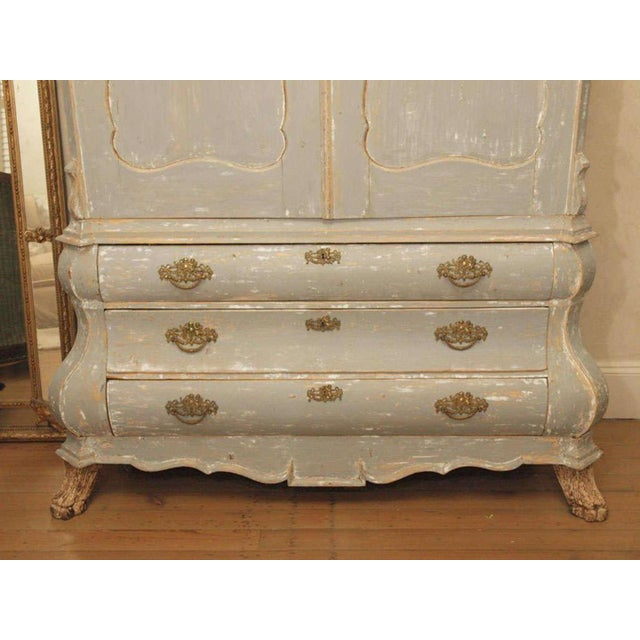 19th C Dutch Painted Buffet Deux Corp - Image 7 of 11