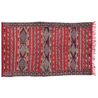 Vintage Moroccan Kilim Rug - 4′8″ × 6′8″