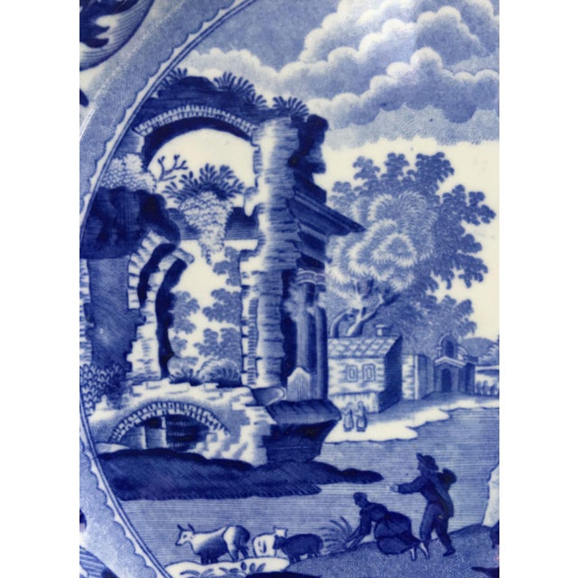 Antique Spode Italian Blue & White Transferware Plates - A Pair - Image 6 of 8