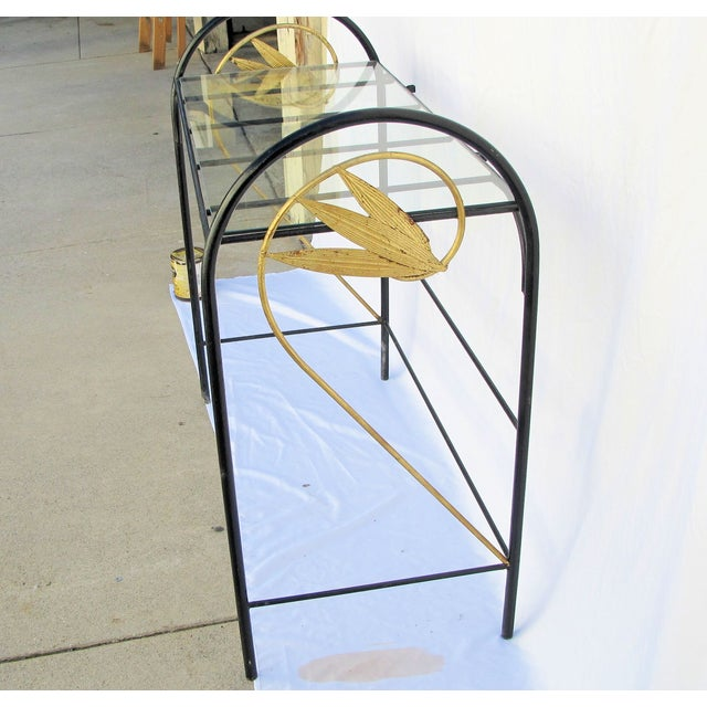 Art Deco Wrought Iron Console - Image 3 of 5