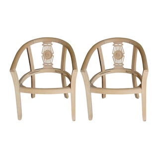 Unfinished Unupholstered Accent Chairs - Pair