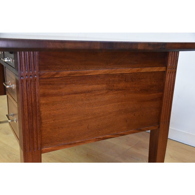 Antique Solid Mahogany Executive Desk - Image 6 of 11