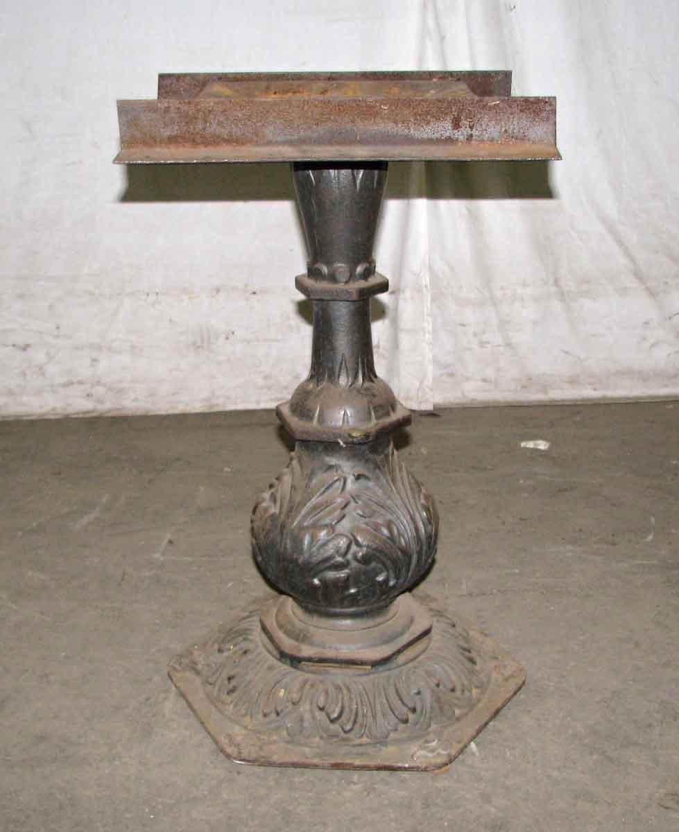 Ornate Cast Iron Pedestal Table Base   Image 5 Of 6