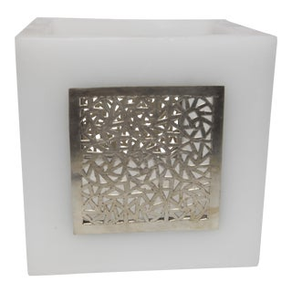 Large White Kasbah Tealight Holder