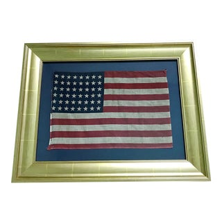 Vintage Original 48 Star Professionally Framed American Flag