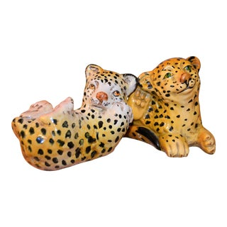Mid-Century Italian Ceramic Leopards - A Pair
