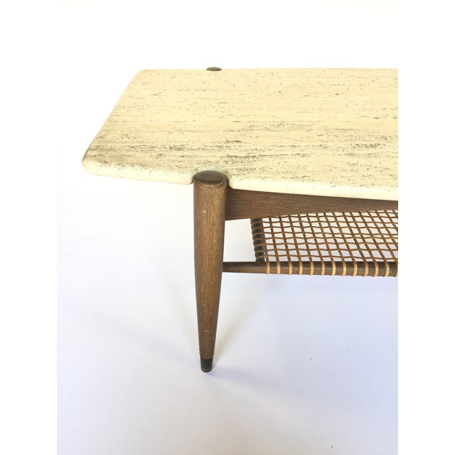 Folke Ohlsson for Dux Travertine Cocktail Table - Image 4 of 6