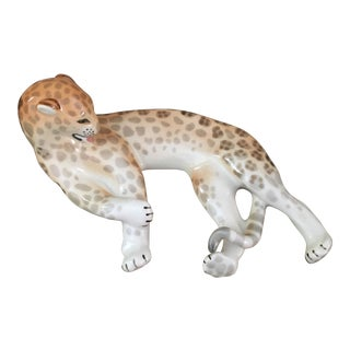 1950's Leopard Figure Hollywood Regency