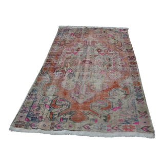 Vintage Turkish Faded Rug - 4′3″ × 7′1″