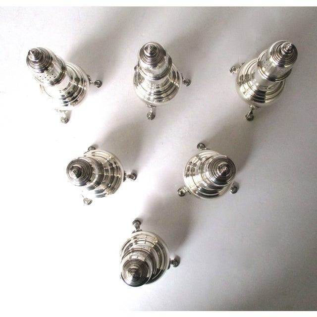 Antique Sterling Salt & Pepper Shakers - Set of 6 - Image 5 of 9