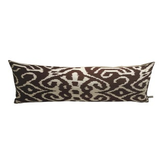 The Rug Company Brown Ikat Pillow