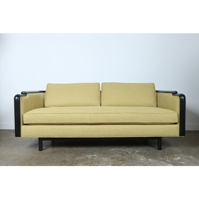 Light green danish style sofa chairish for Light green sectional sofa