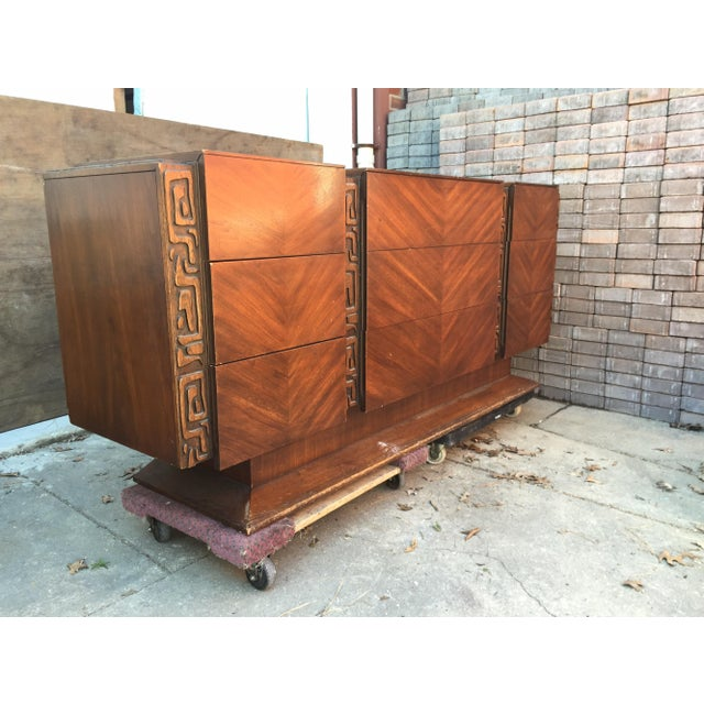 United Furniture Vintage 1970s Brutalist Dresser - Image 3 of 5