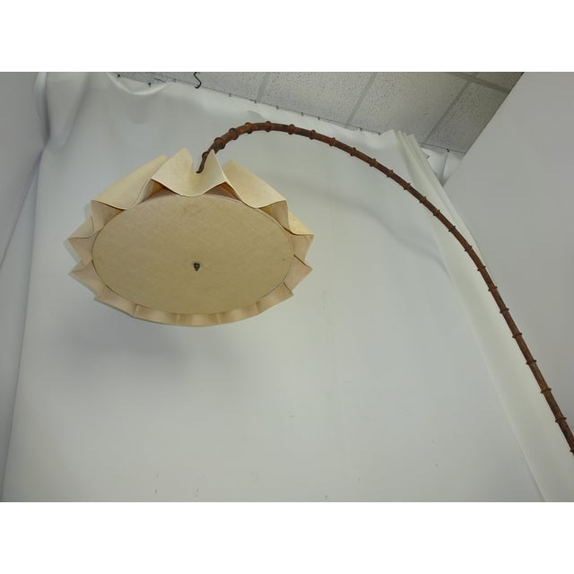 1970s Wrought Iron Faux Bamboo Arc Lamp - Image 5 of 8