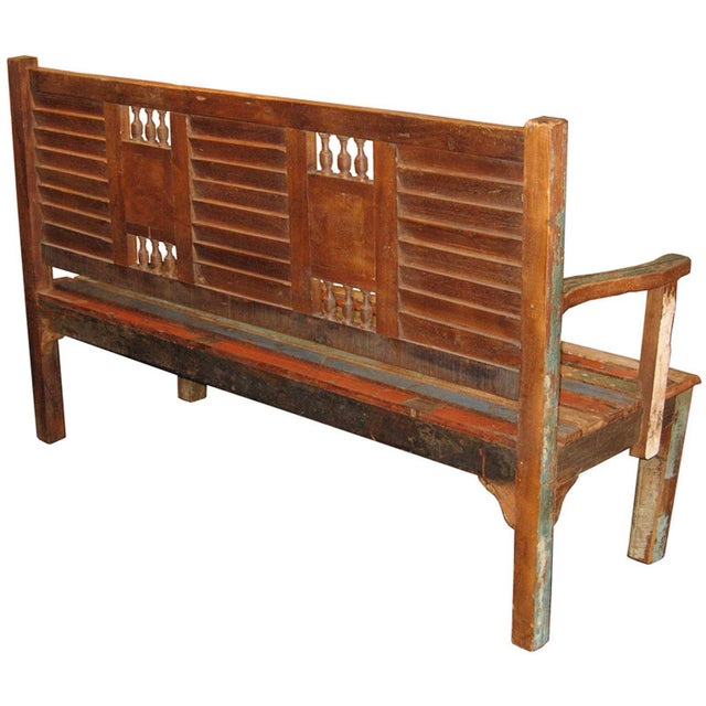 Recycled Wood Bench - Image 6 of 6
