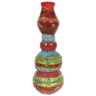 Multi-Colored Ceramic Glazed Vase by Gary Fonseca