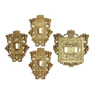 Virginia Metalcrafters Brass Crest Switch Plates, S/4