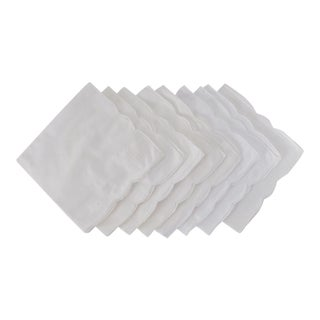 Traditional White Cocktail Napkins - Set of 8