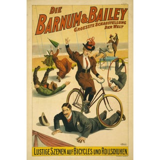 Late 1800s Print of German Barnum and Bailey Poster