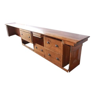 16 ft. Antique Store Wood Counter